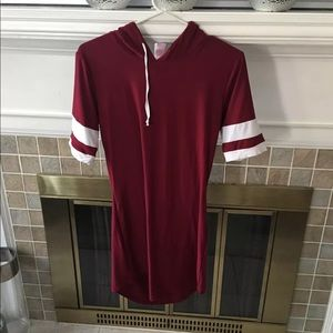 Burgundy dress/shirt